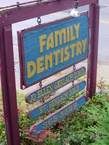 A sign at Gerlach Family Dentistry in Woodlawn